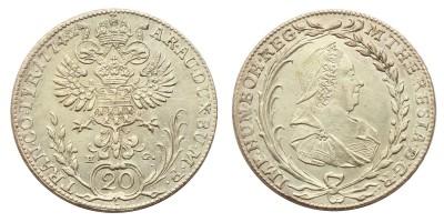 Mária Terézia 20 krajcár 1774 H.G.