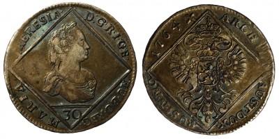 Mária Terézia 30 krajcár 1764 Prága