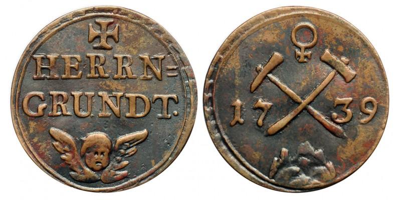 Úrvölgyi bányapénz 1739 RR!