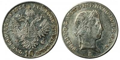 V.Ferdinánd 10 krajcár 1846 E