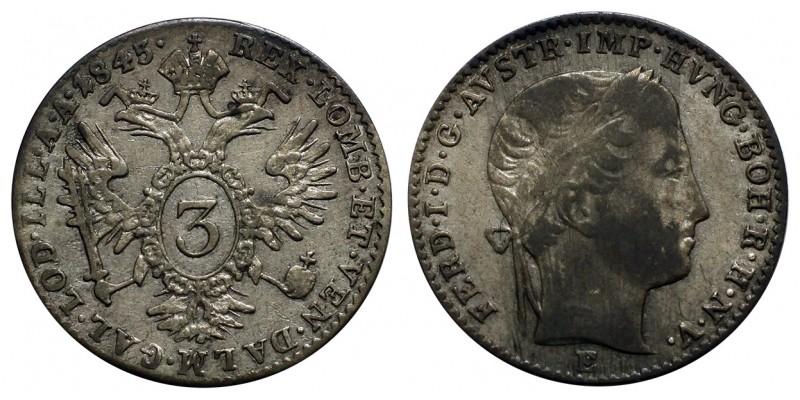 V. Ferdinánd 3 krajcár 1845 E