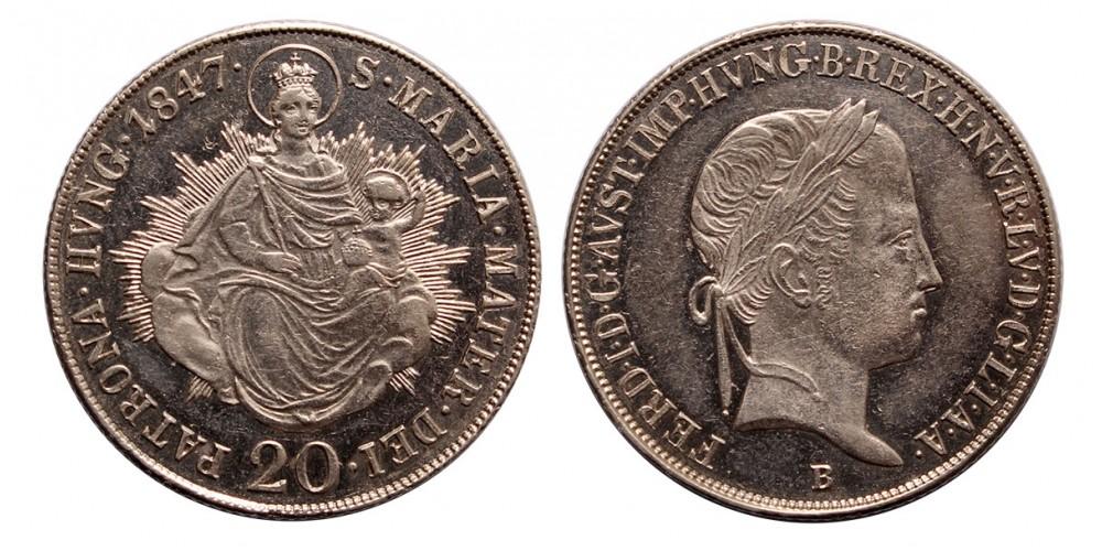 V.Ferdinánd 20 krajcár 1847 B