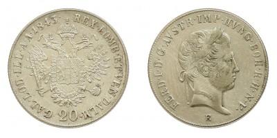V.Ferdinánd 20 krajcár 1843 E