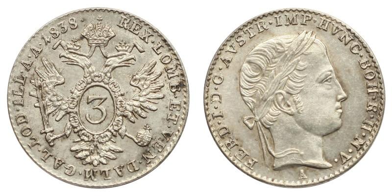 V. Ferdinánd 3 krajcár 1838 A