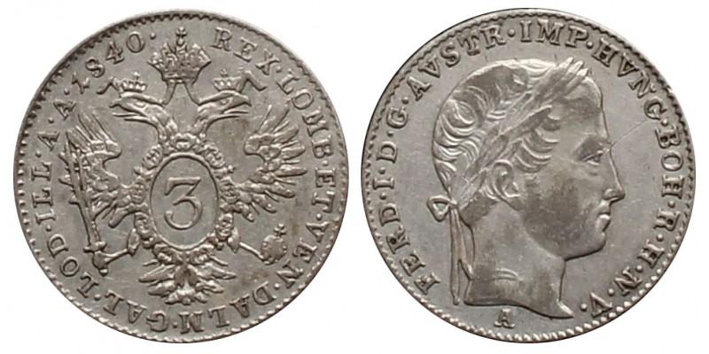 V. Ferdinánd 3 krajcár 1840 A
