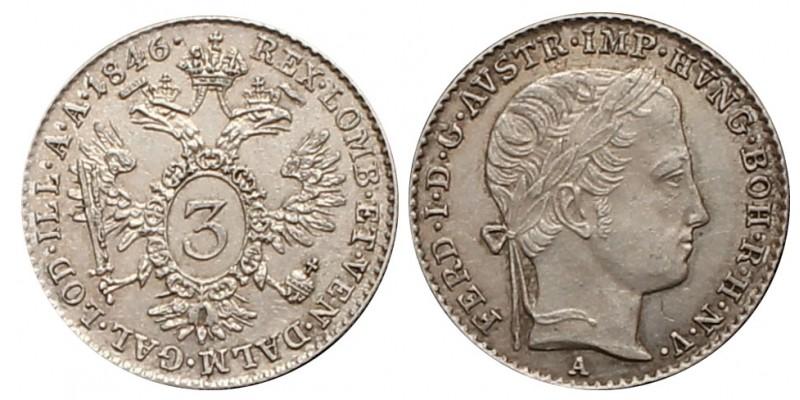 V. Ferdinánd 3 krajcár 1846 A