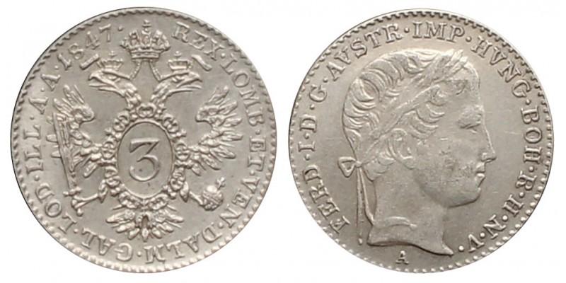 V. Ferdinánd 3 krajcár 1847 A