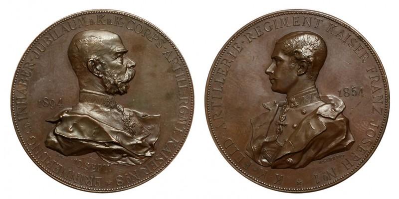 """Cs. és Kir. 8. """"Császár"""" Tüzérezred jubileumi emlékérem 1894"""