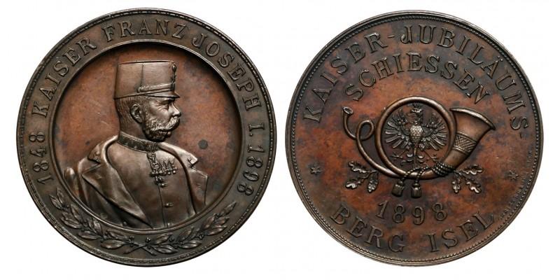 Császári Jubileumi Lövészet Berg Isel emlékérem 1898