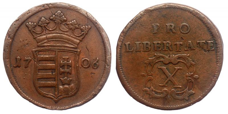 Rákóczi Ferenc X poltura 1706 jn.