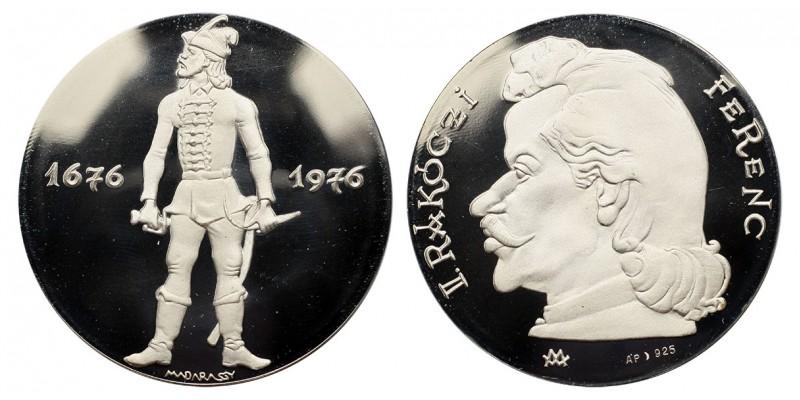 II.Rákóczi Ferenc születésének 300.évfordulójára 1676-1976 ezüst érem