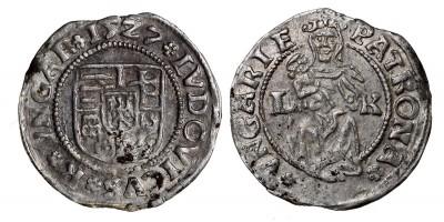 II. Lajos denár 1527 ÉH 673