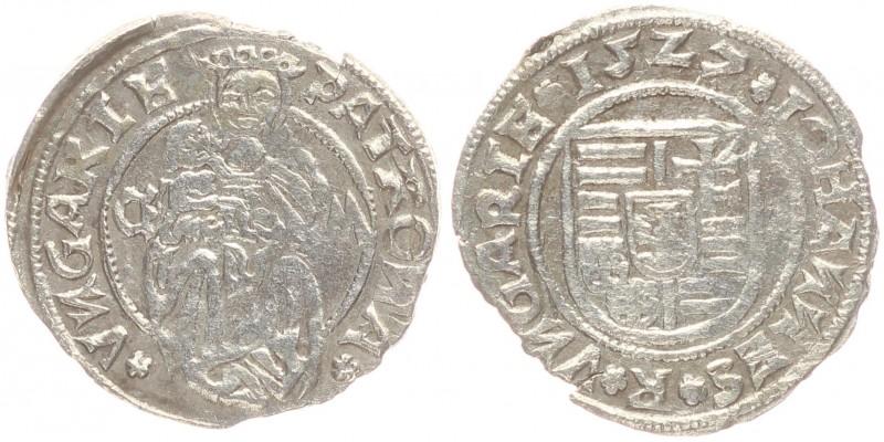 Szapolyai János denár 1527 C-M Kassa ÉH 699