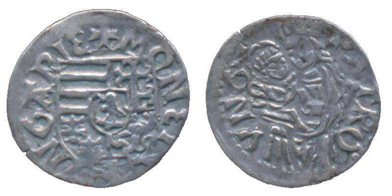 I. Mátyás 1458-90 denár S-W ÉH 569 R!