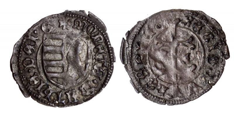 I. Mátyás 1458-90 denár ÉH 556