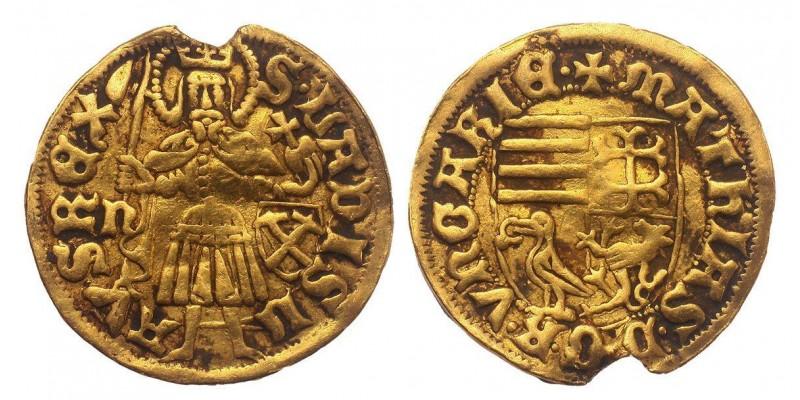 I. Mátyás 1458-90 aranyforint ÉH 540