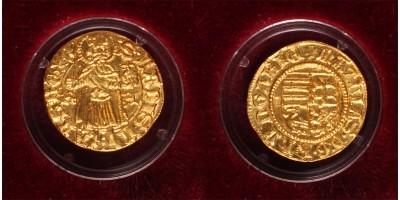 Mátyás aranyforint modern arany utánveret