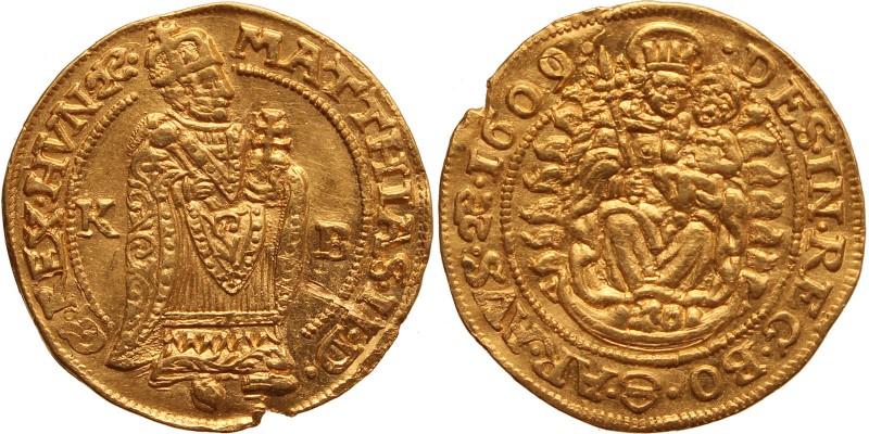 II.Mátyás aranyforint 1609 KB