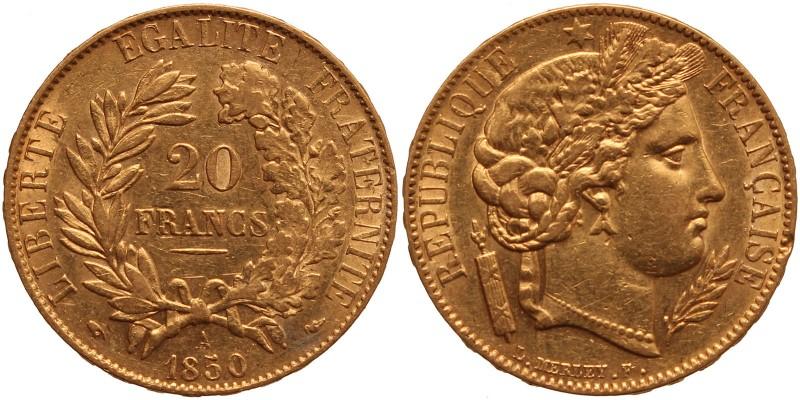 Franciaország 20 frank 1850 A