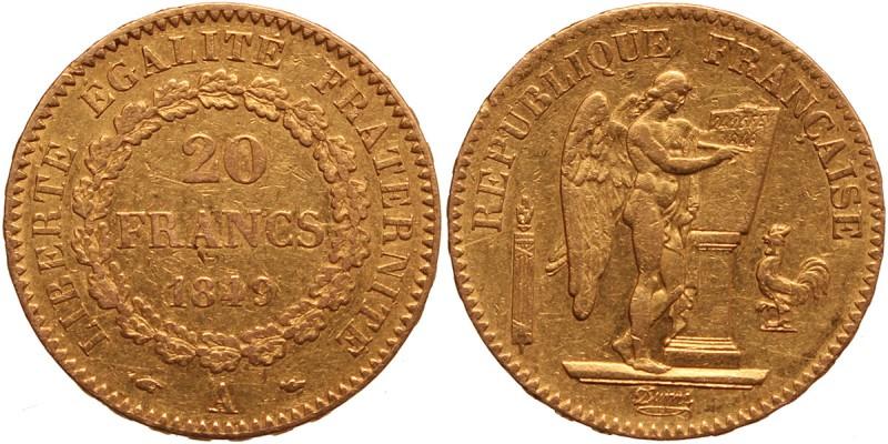 Franciaország 20 frank 1849 A