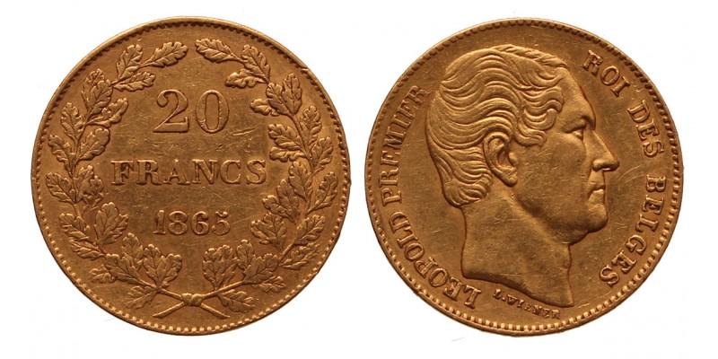 Belgium 20 frank 1865