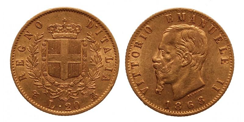 Olaszország 20 Lire 1868 T