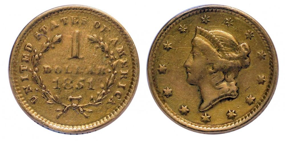 USA dollár 1851