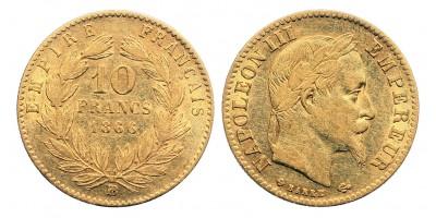 Franciaország 10 frank 1866 BB