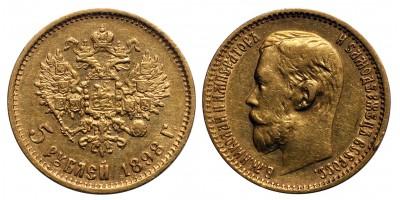 Oroszország II.Miklós  5 rubel 1898