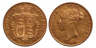 Nagy Britannia Viktória 1/2 sovereign 1861