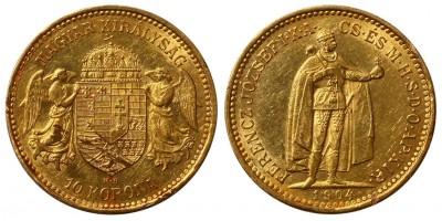 Ferenc József 10 korona 1904
