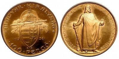 Szent István 100 pengő 1938 U.P