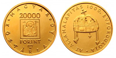 Államalapítás 1000. évfordulója 20000 forint 1999