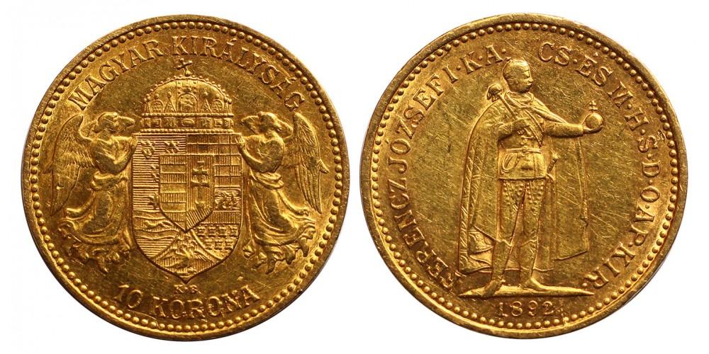 Ferenc József 10 Korona 1892