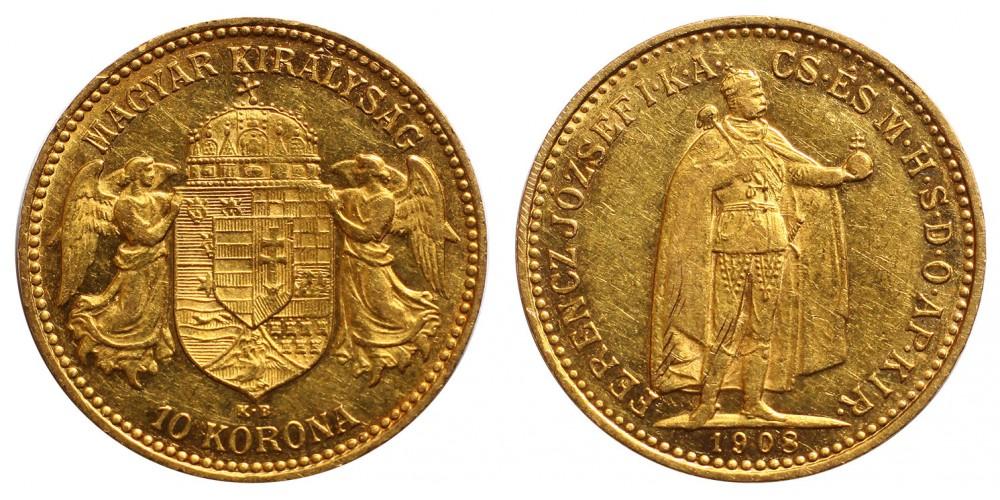 Ferenc József 10 Korona 1908