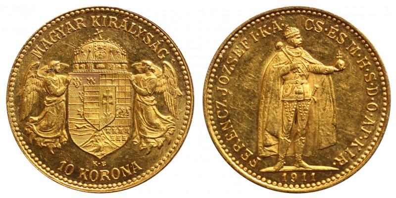 Ferenc József 10 Korona 1911 KB.