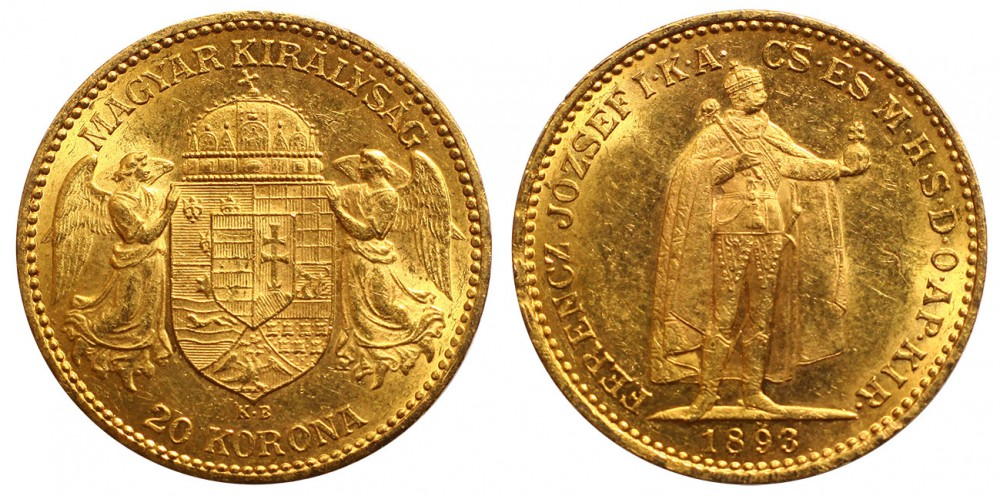 Ferenc József 20 Korona 1893