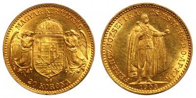 Ferenc József 20 Korona 1903