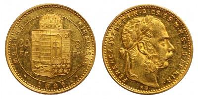Ferenc József 8 Forint 1886 KB
