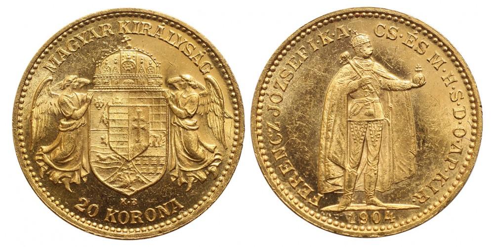 Ferenc József 20 korona 1904 KB
