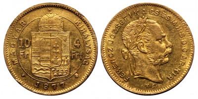 Ferenc József 4 Forint 1877 KB
