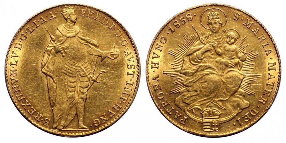 V.Ferdinánd dukát 1838