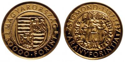 Zsigmond aranyforint 50 000 Forint 2016