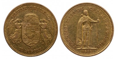 Ferenc József 10 korona 1892 KB