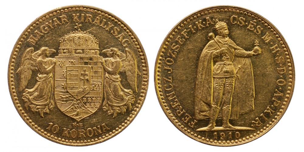 Ferenc József 10 korona 1910 KB.