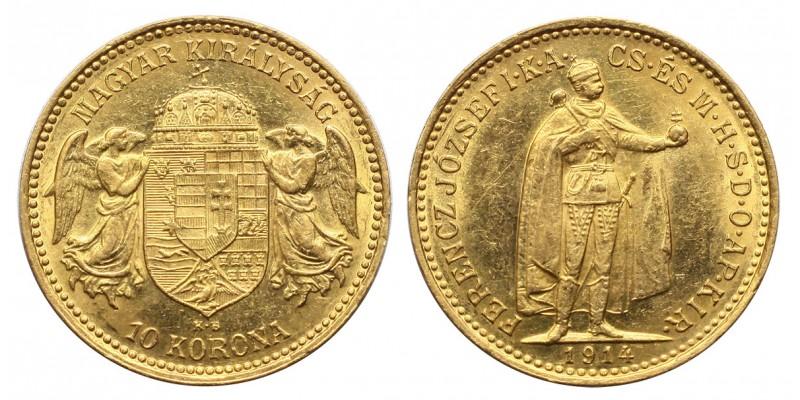 Ferenc József 10 korona 1914 KB R!