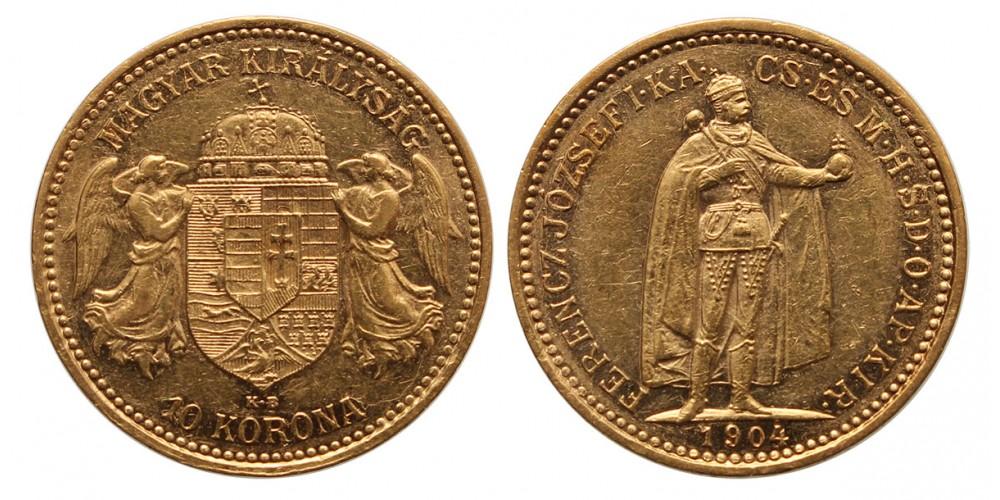 Ferenc József 10 korona 1904 KB.
