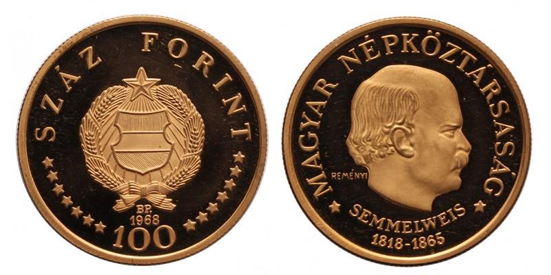 Semmelweis Ignác 100 forint 1968