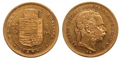 20 frank 8 forint 1877 KB
