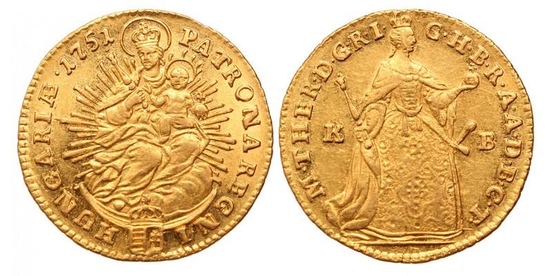 Mária Terézia dukát 1751 KB